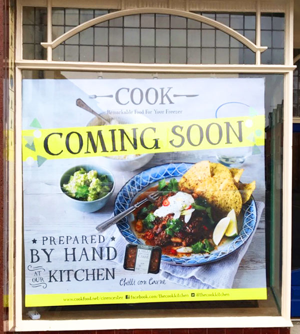 Cook Cirencester Opening Soon On Cricklade Street